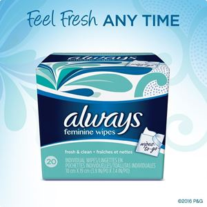 Picture of Always Wipes Feminine Fresh and Clean
