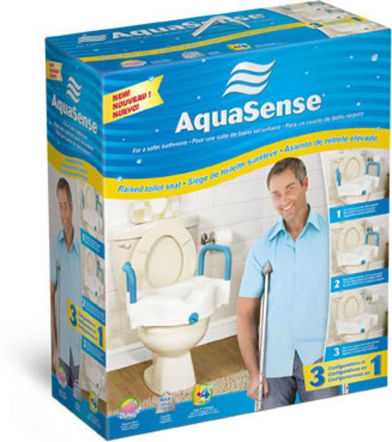 Aquasense 3-In-1 Raised Toilet Seat