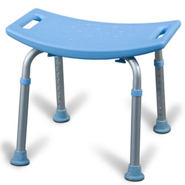 Picture of Aquasense Adjustable Bath Seat, Without Back, Blue