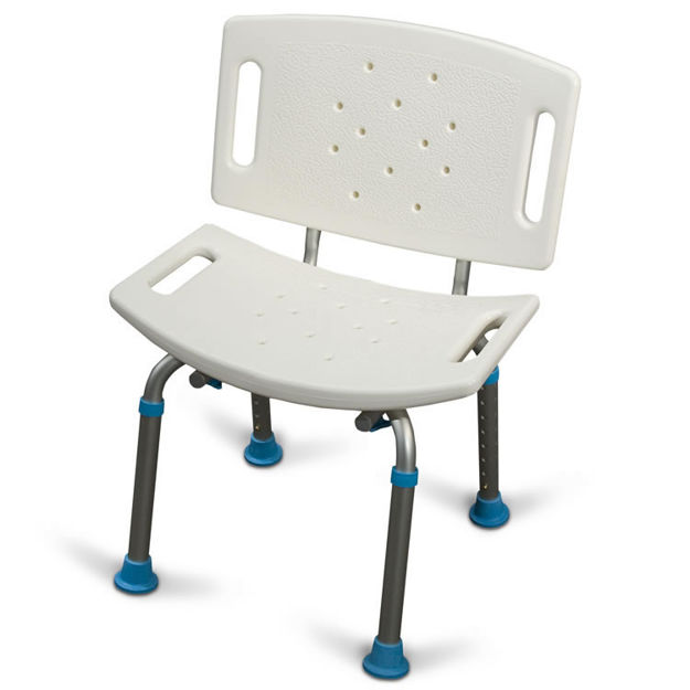 Picture of Aquasense Bath Bench With Back,Adjustable, Not Assembled