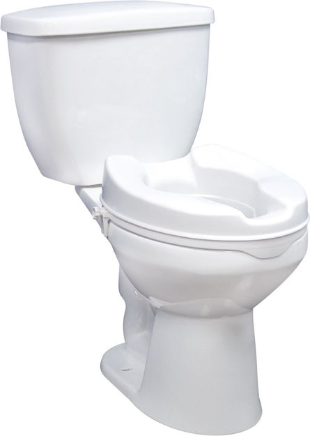 """Picture of Raised Toilet Seat 6"""" without Lid, 1 c/s, RTL"""