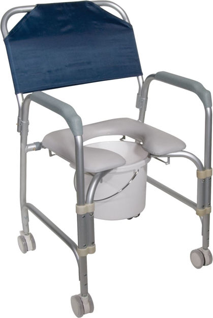 Aluminium Shower Chair and Commode with Casters