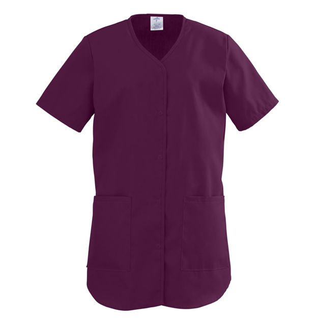 ComfortEase Ladies Shirttail Scrub Tops