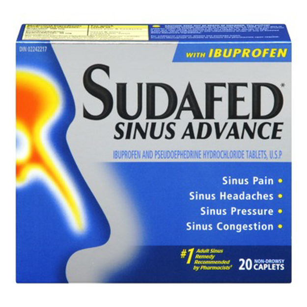 Sudafed Sinus Advance with Ibuprofen