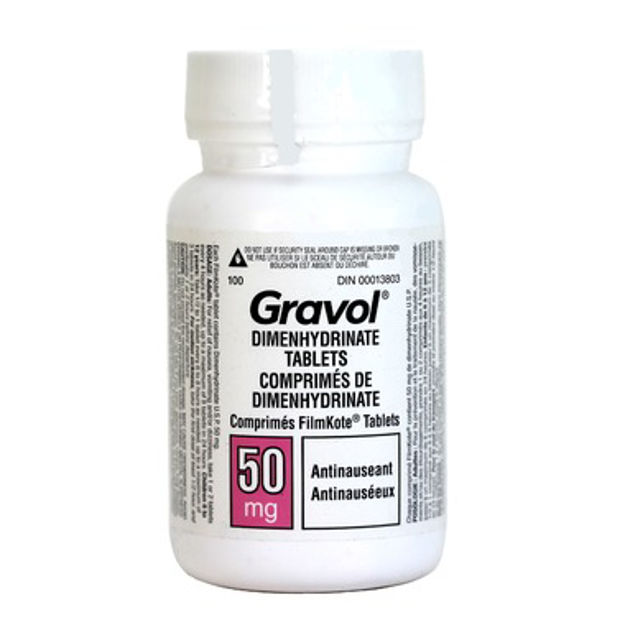 Gravol Dimenhydrinate Tablets ** NOT AVAILABLE **