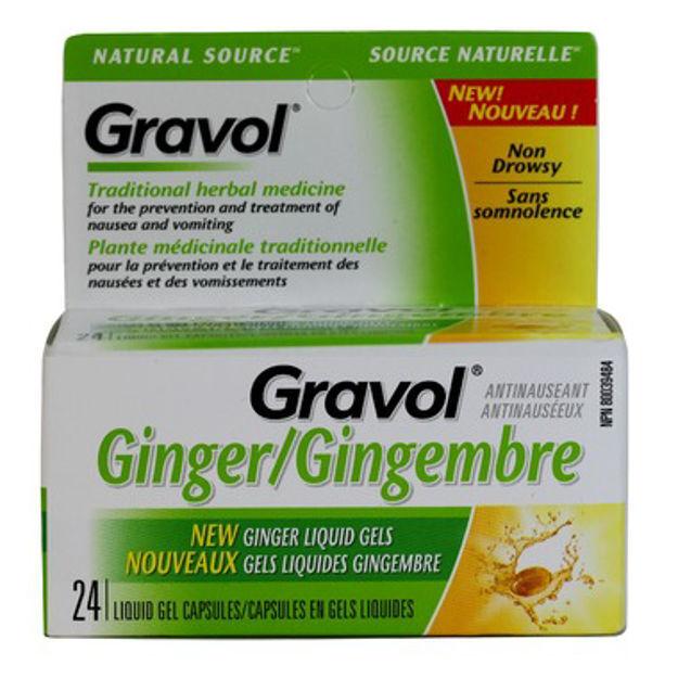 Gravol Natural Source Ginger Liquid Gel Capsules