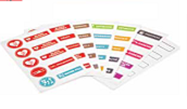 Picture of Medicine Label Stickers: Cardiac Health - French