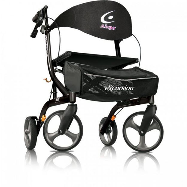 Airgo Excursion X20 Rollator (Lightweight, Side Folding Walker)