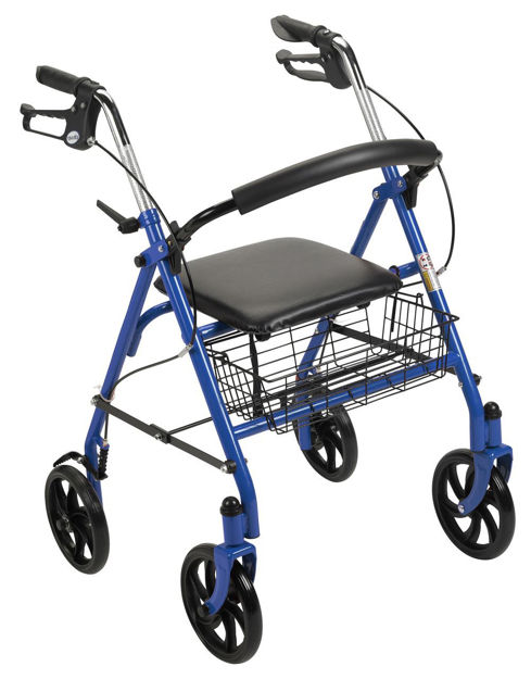 "Four Wheel Rollator Walker with 7.5"" Casters"