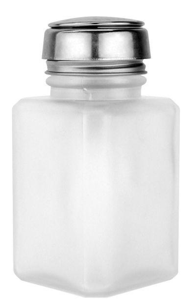 Pump Alcohol Dispenser Clear Bottle 6 oz