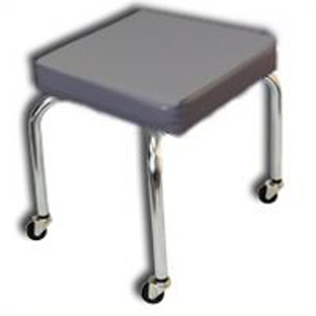 Mobile Treatment Stool - Metal Wheels