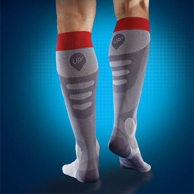 Sports UP Recovery Socks Men Grey/Red