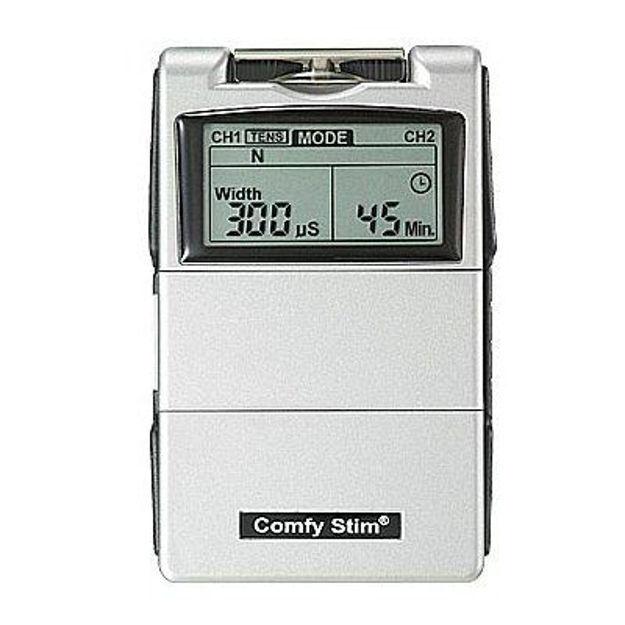 Comfy Stim Set includes: Unit, Batteries(2), Charger(1) and Electrodes(16)