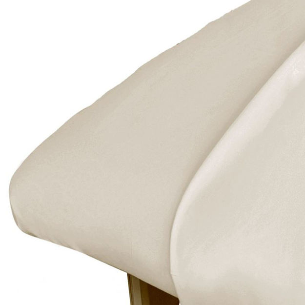 Cotton Flannel Sheet Fitted - Ivory