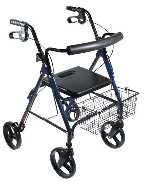 """D-Lite Aluminum Rollator with Removable 8"""" Casters"""