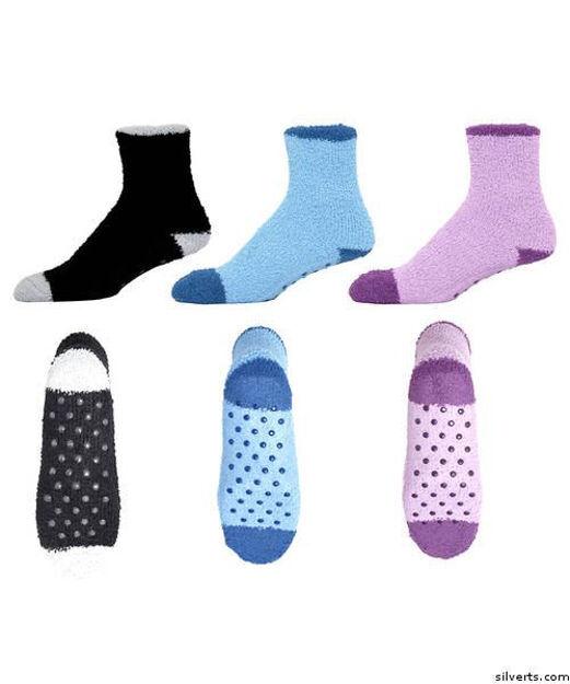 Non Skid-Slip Grip Hospital Socks For Adult Women