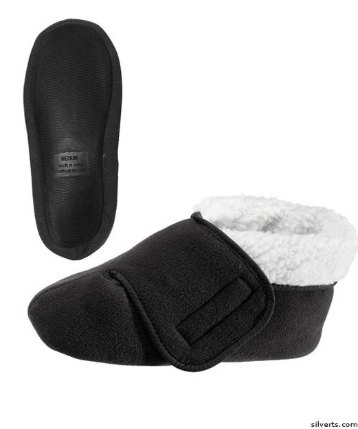 Womens and Mens Deep Wide Diabetic Bootie Slipper