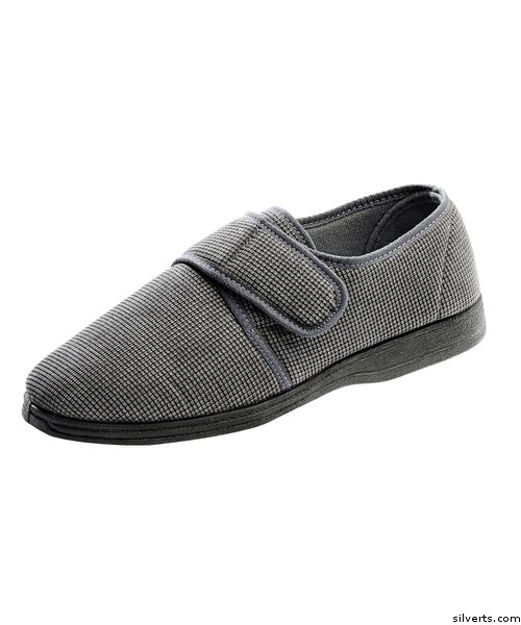 Men's Wide Adjustable Closure Slippers