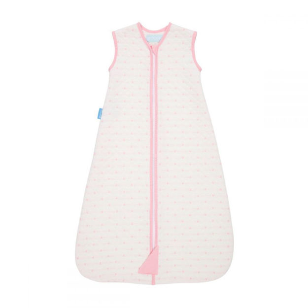 GROSUITS - Sleeper with quilted sleeves  Pink Hearts