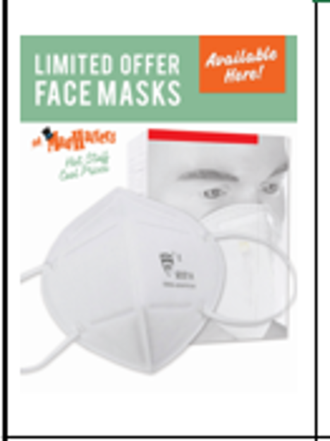 Picture of N95 Mask ** NOT AVAILABLE **