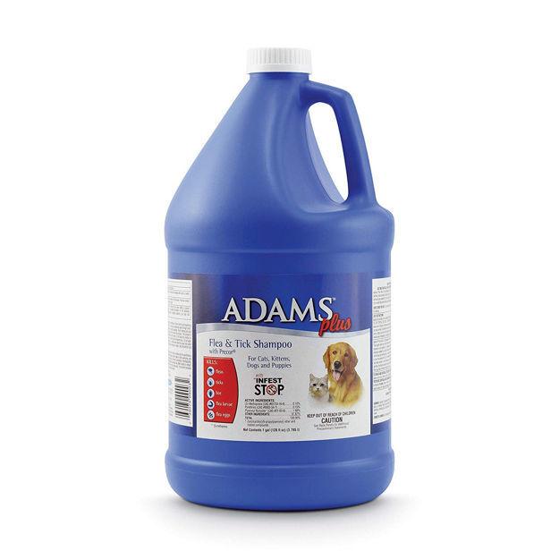 Adams Plus Flea and Tick Shampoo with Precor for Cats and Dogs 1 Gallon