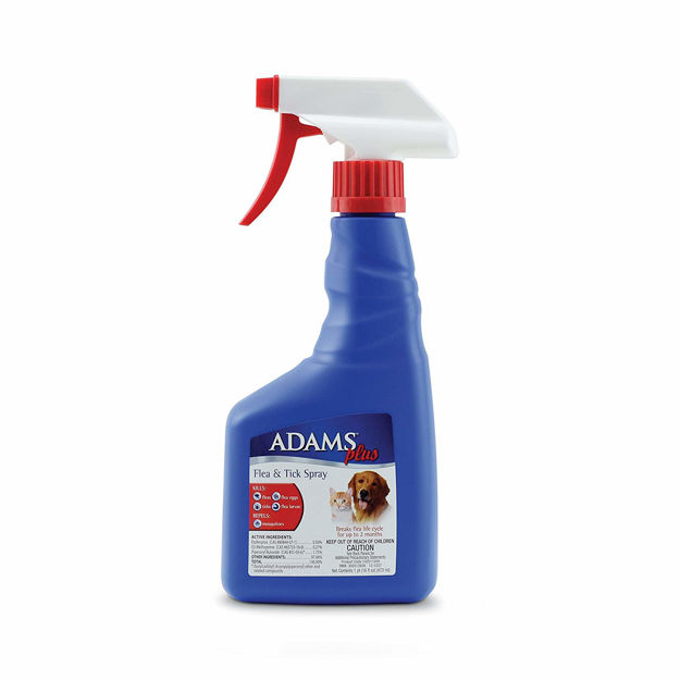Adams Plus Flea and Tick Spray for Cats and Dogs 16 ounces