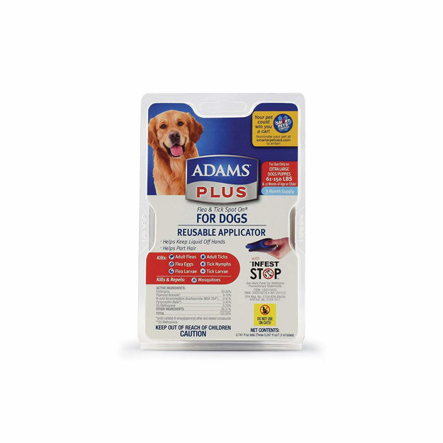 Adams Plus Flea and Tick Spot on Dog Extra Large 3 Month Supply