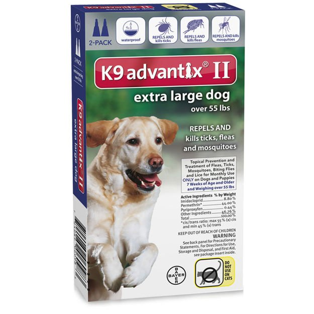 Advantix Flea and Tick Control for Dogs Over 55 lbs 2 Month Supply