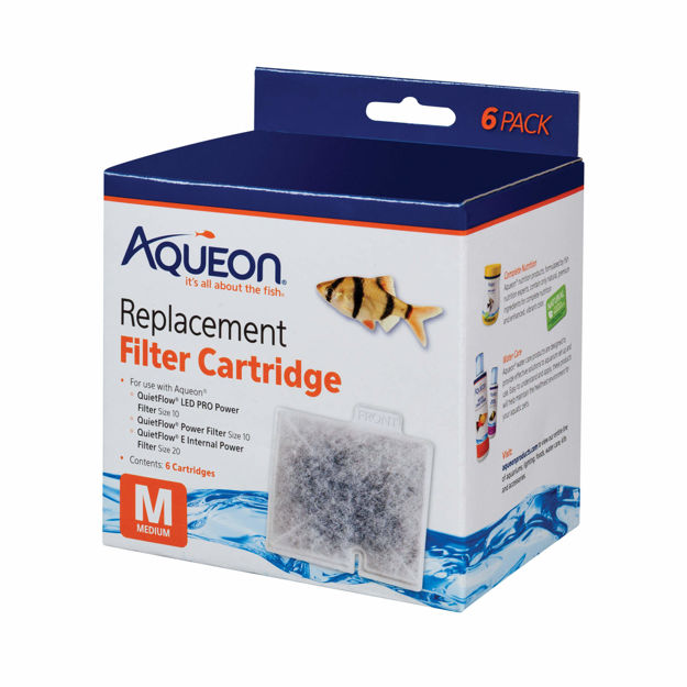 "Aqueon Replacement Filter Cartridges 6 pack Medium 4.9"" x 2"" x 5.7"""
