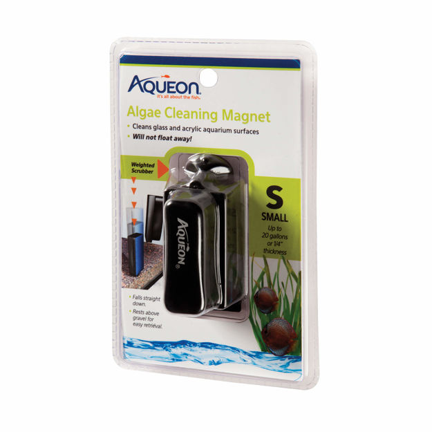 "Aqueon Algae Cleaning Magnets Small Black 4.6"" x 2.5"" x 7.5"""