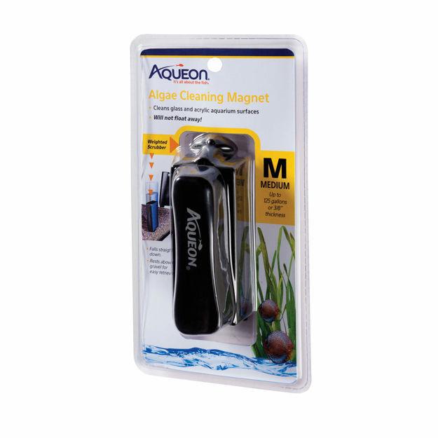 """Aqueon Algae Cleaning Magnets Medium Black 4.5"""" x 2.5"""" x 9"""""""
