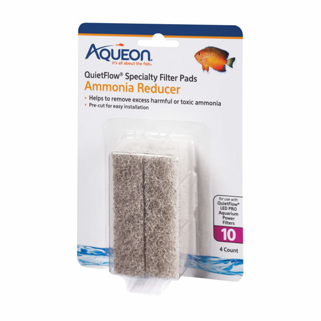 Aqueon Replacement Ammonia Reducer Filter Pads Size 10 4 pack