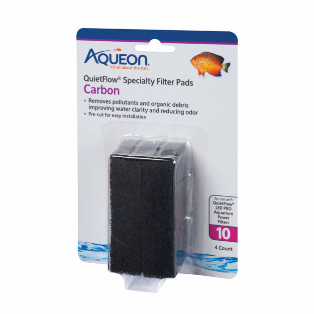 Aqueon Replacement Carbon Filter Pads Size 10 4 pack