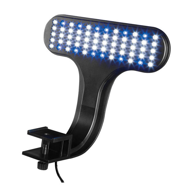 "Aqueon Fish Tank Clip-On LED Lights 3 Way Control Black 8"" x 7"" x 4.75"""