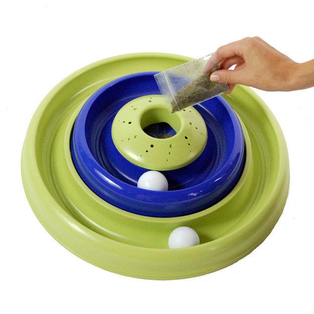 "Bergan Turbo Catnip Hurrican Cat Toy Blue / Green 16"" x 16"" x 3.8"