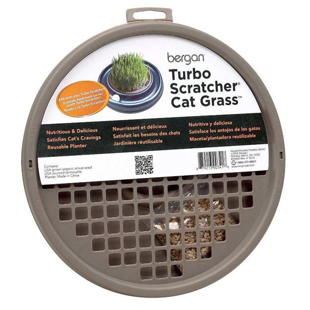 """Bergan Turbo Cat Grass Brown 10"""" x 10"""" x 1"""""""