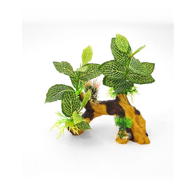 "BioBubble Decorative Tiger Root Green 7"" x 4"" x 10"""