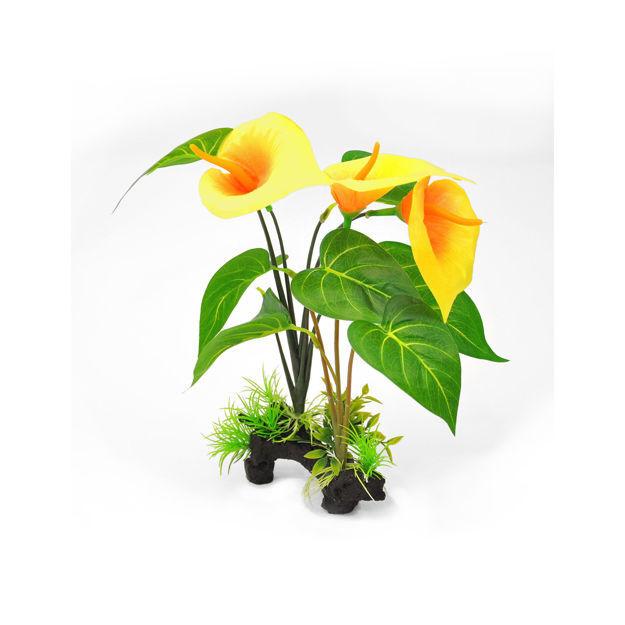 "BioBubble Decorative Yellow Lilly Yellow 6"" x 3"" x 12"""
