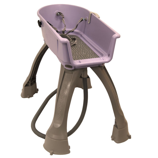 "Booster Bath Elevated Dog Bath and Grooming Center Medium Lilac 33"" x 16.75"" x 10"""