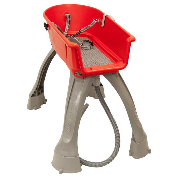 """Booster Bath Elevated Dog Bath and Grooming Center Medium Red 33"""" x 16.75"""" x 10"""""""