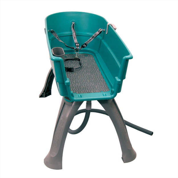"""Booster Bath Elevated Dog Bath and Grooming Center Flat Rate Shipping Large Teal 45"""" x 21.25"""" x 15"""""""