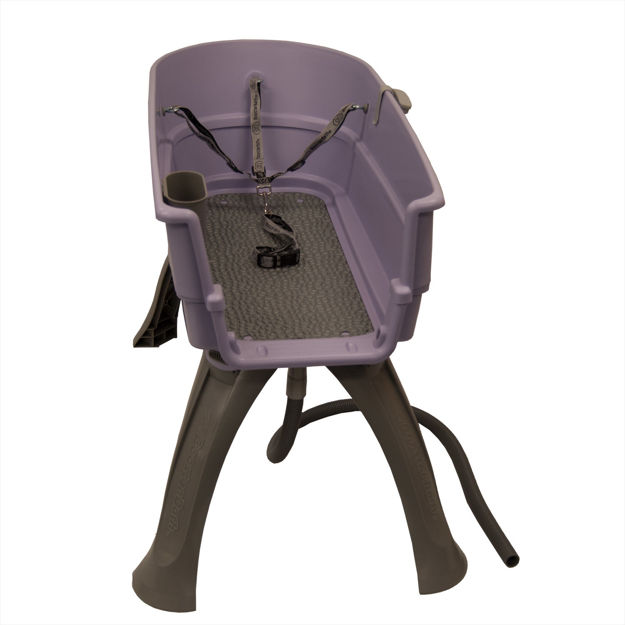 """Booster Bath Elevated Dog Bath and Grooming Center Flat Rate Shipping Large Lilac 45"""" x 21.25"""" x 15"""""""