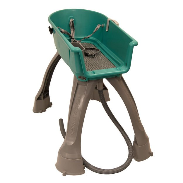 """Booster Bath Elevated Dog Bath and Grooming Center Flat Rate Shipping Medium Teal 33"""" x 16.75"""" x 10"""""""