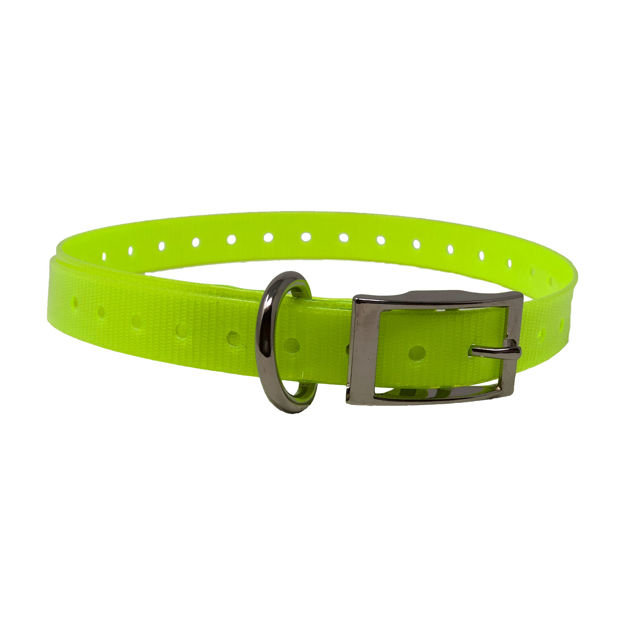 """The Buzzard's Roost Replacement Collar Strap 3/4"""" Neon Yellow 3/4"""" x 24"""""""