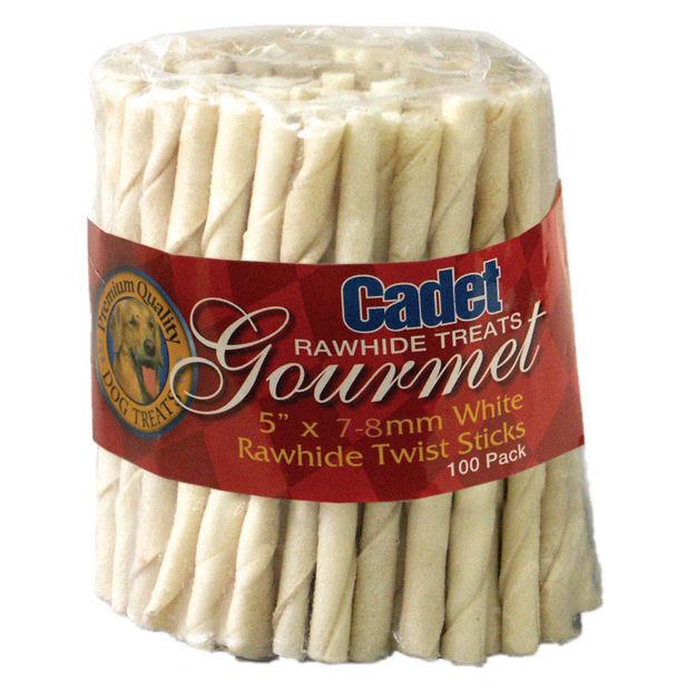 Cadet Rawhide Twist Sticks 5 inches 100 pack