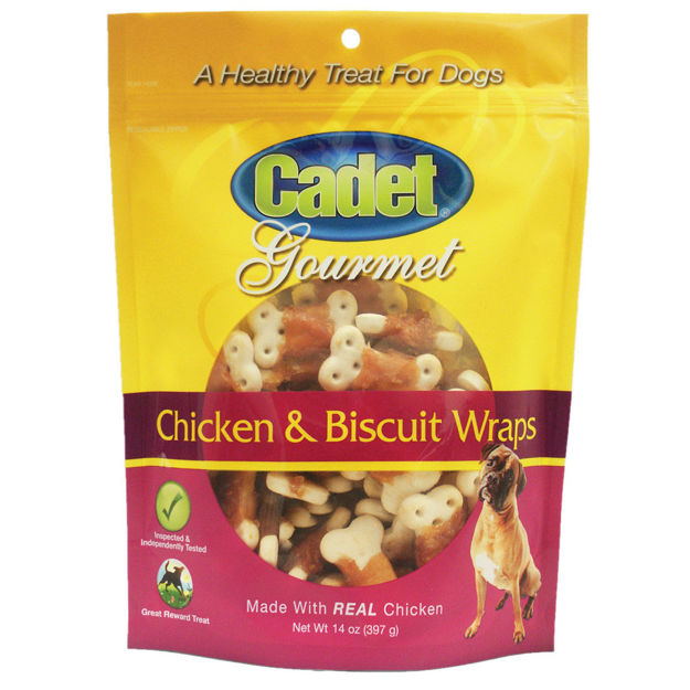 Cadet Premium Gourmet Chicken with Biscuit Wraps Treats 14 ounces
