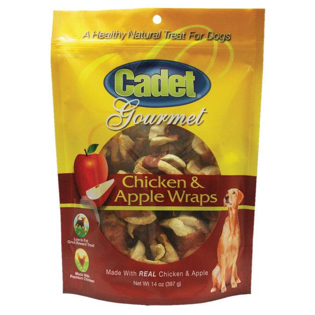 Cadet Premium Gourmet Chicken with Apple Wraps Treats 14 ounces