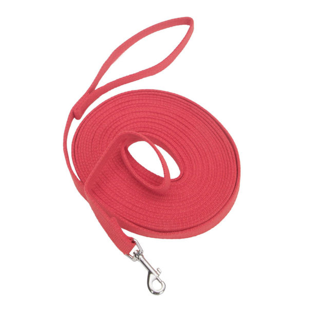 """Coastal Pet Products Train Right Cotton Web Training Leash 30ft Red 5/8"""" x 30ft"""