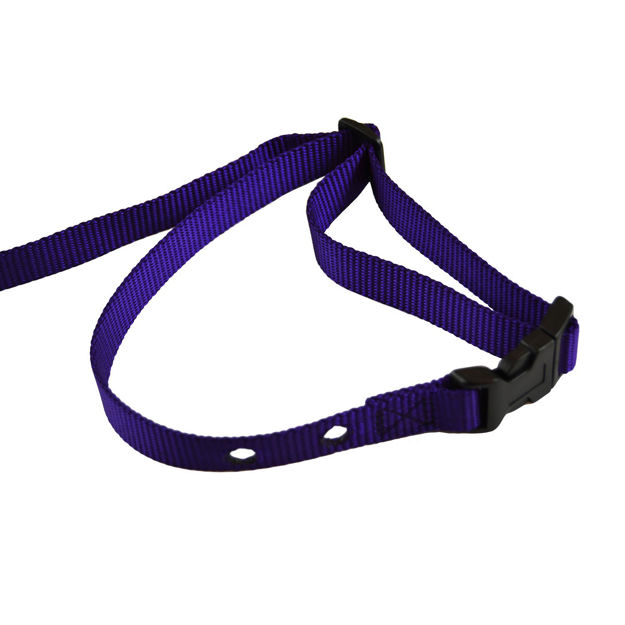 "Custom Collars Adjustable Quick Release Nylon Replacement Collar Strap Purple 24"" x 0.75"" x 0.1"""