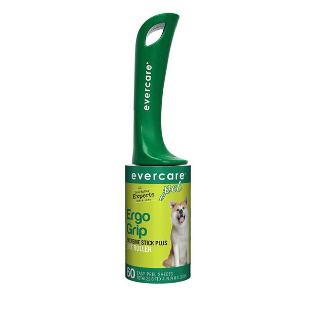 """Evercare Pet Plus Giant Extreme Stick Lint Roller 60 Sheets 10.2"""" x 2.75"""" x 2.75"""""""